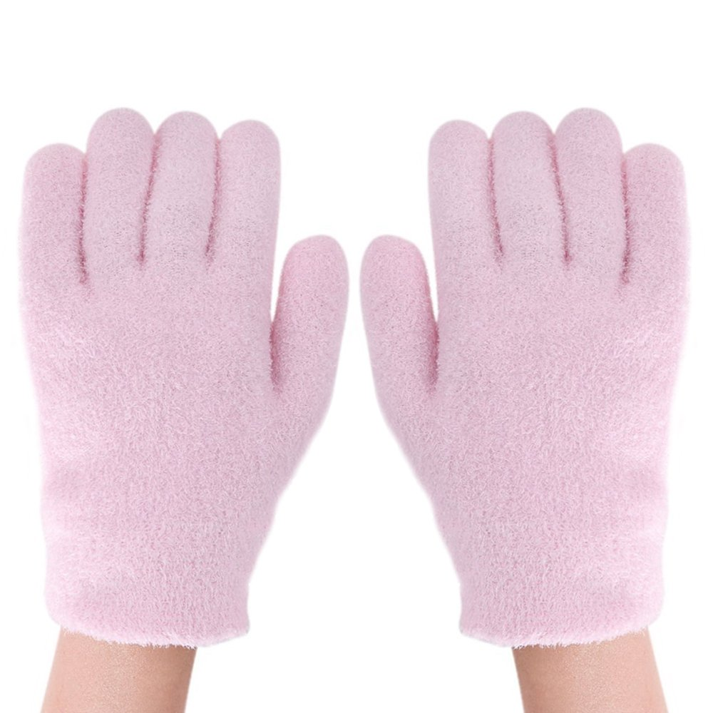 Gel Spa Moisturizing Therapeutic Gloves for Dry Hands and Beauty, Soft Cotton Cosmetic Moisture Gloves with Thermoplastic Gel Lining, Soften Silicone Glove Infused for Heal Cracked Dry Skin