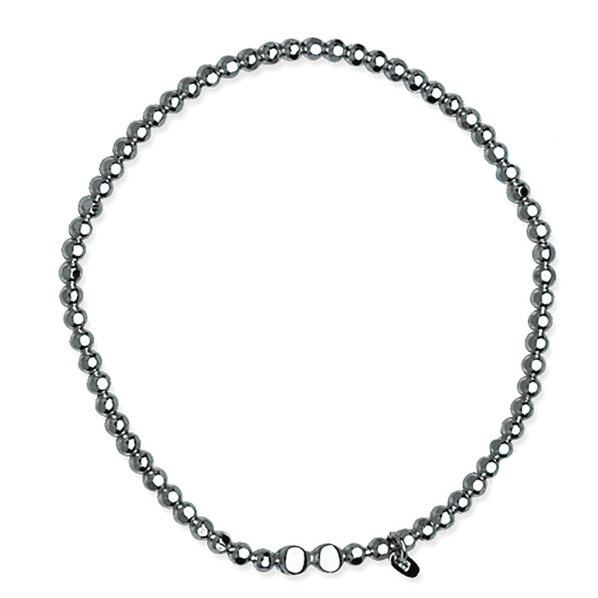 Caviar Collection Stretch Bead Bracelet Black Rhodium on Sterling Silver