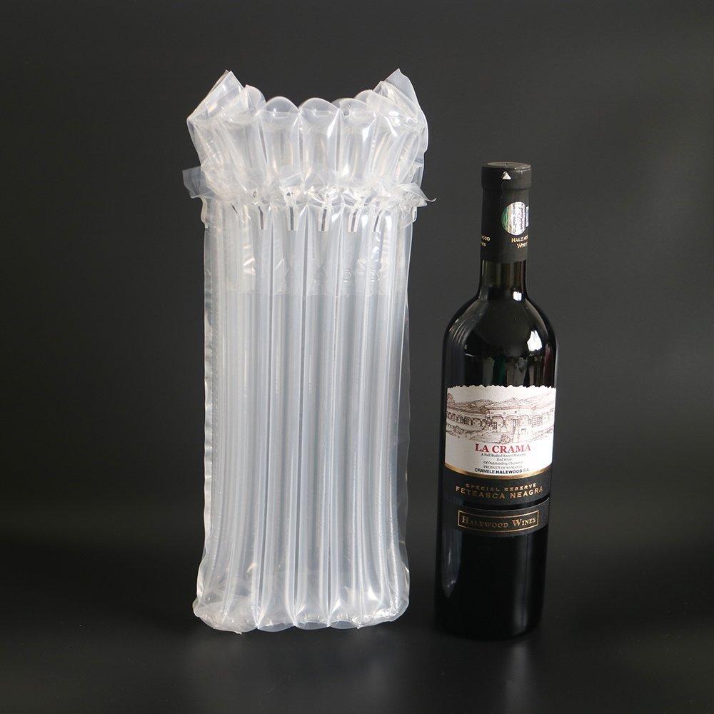 Bolsas de burbujas para botella de vino con bomba gratis, funda reutilizable para viaje, hinchable, bolsa de cojín para embalaje y a prueba de fugas, ...