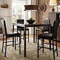 decorative custom contemporary brown modern metal and wood dining table - Kitchen Counter Tables