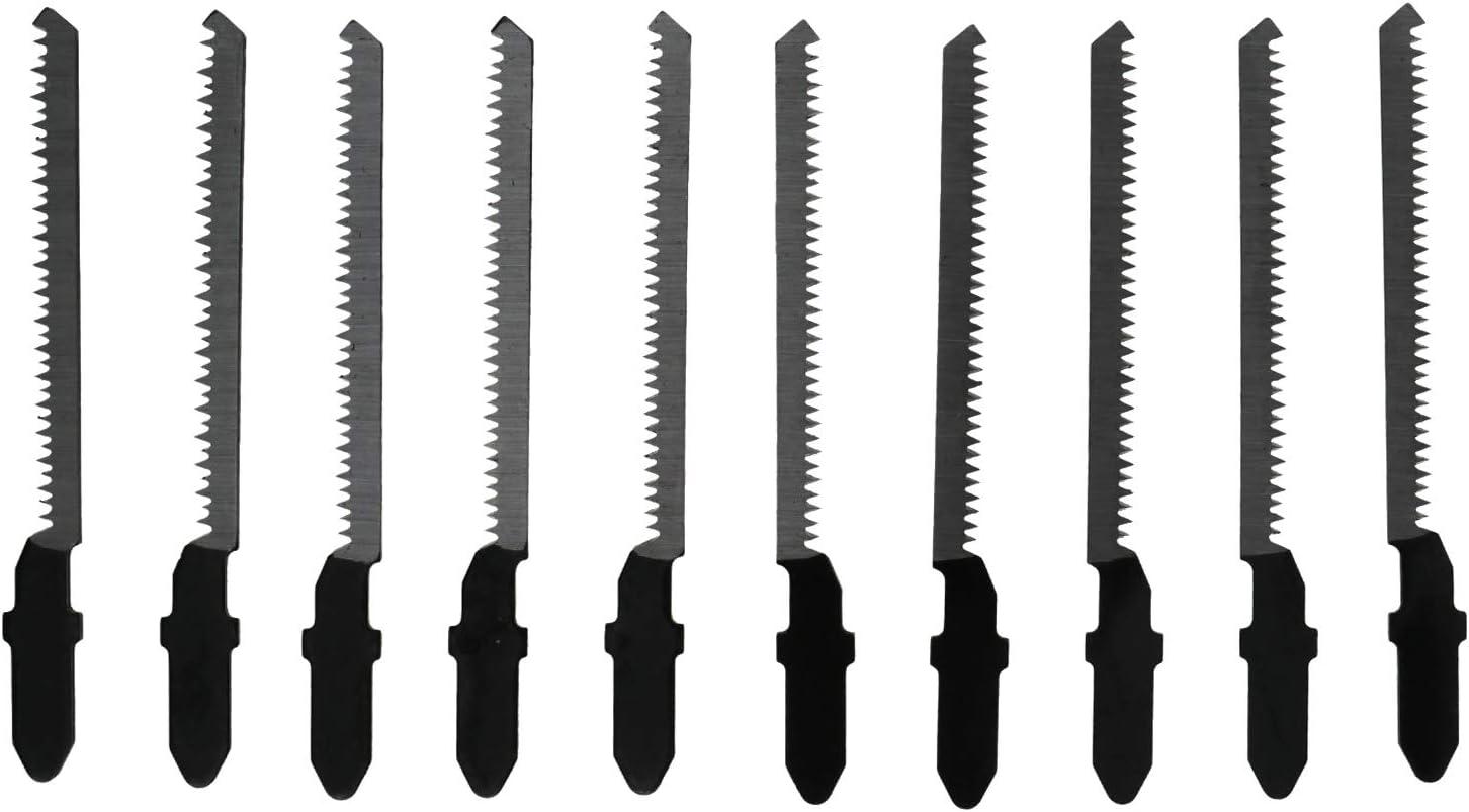 10 unidades Juego de cuchillas de sierra de calar T101AO HCS Curva Hoja de sierra Kit de corte para suelo laminado madera y pl/ástico
