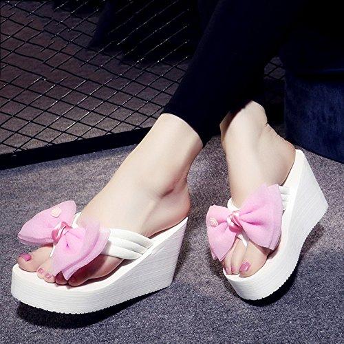 Antisdrucciolevoli Le Pantofole Scarpe Anni Haizhen Da 9cm 18 40 colore 1001 Donna Estate Di Per 35 1005 Donne Dei Dimensioni Sandali w6SzqwC