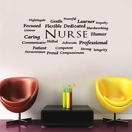 Susie85electra Nurse Gift Nurse Appreciation Nurse Decal Nurse Vinyl Wall Decal Rn Wall Doctor Decal Gift For Nurse Nursing Decal Nurse Decor