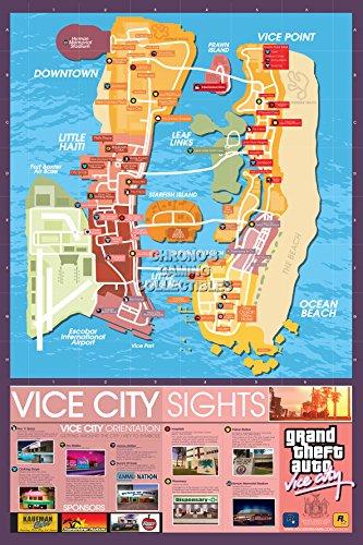 CGC Huge Poster - Grand Theft Auto Vice City Ps4 Ps3 Ps2 Original Xbox