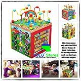 Baby Toys Toddler Activity Cube Girls Boys Educational Kids Toy Wooden Learning Games By YOLO Stores