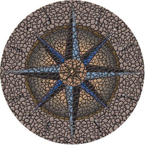 Compass Pool Mosaic Art - Small 29