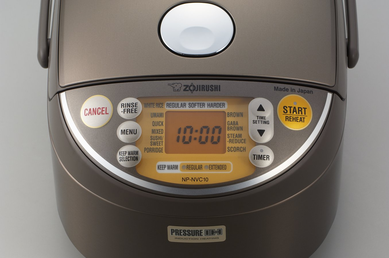 Zojirushi Induction Heating Pressure Rice Cooker & Warmer 1.0 Liter, Stainless Brown NP-NVC10 by Zojirushi