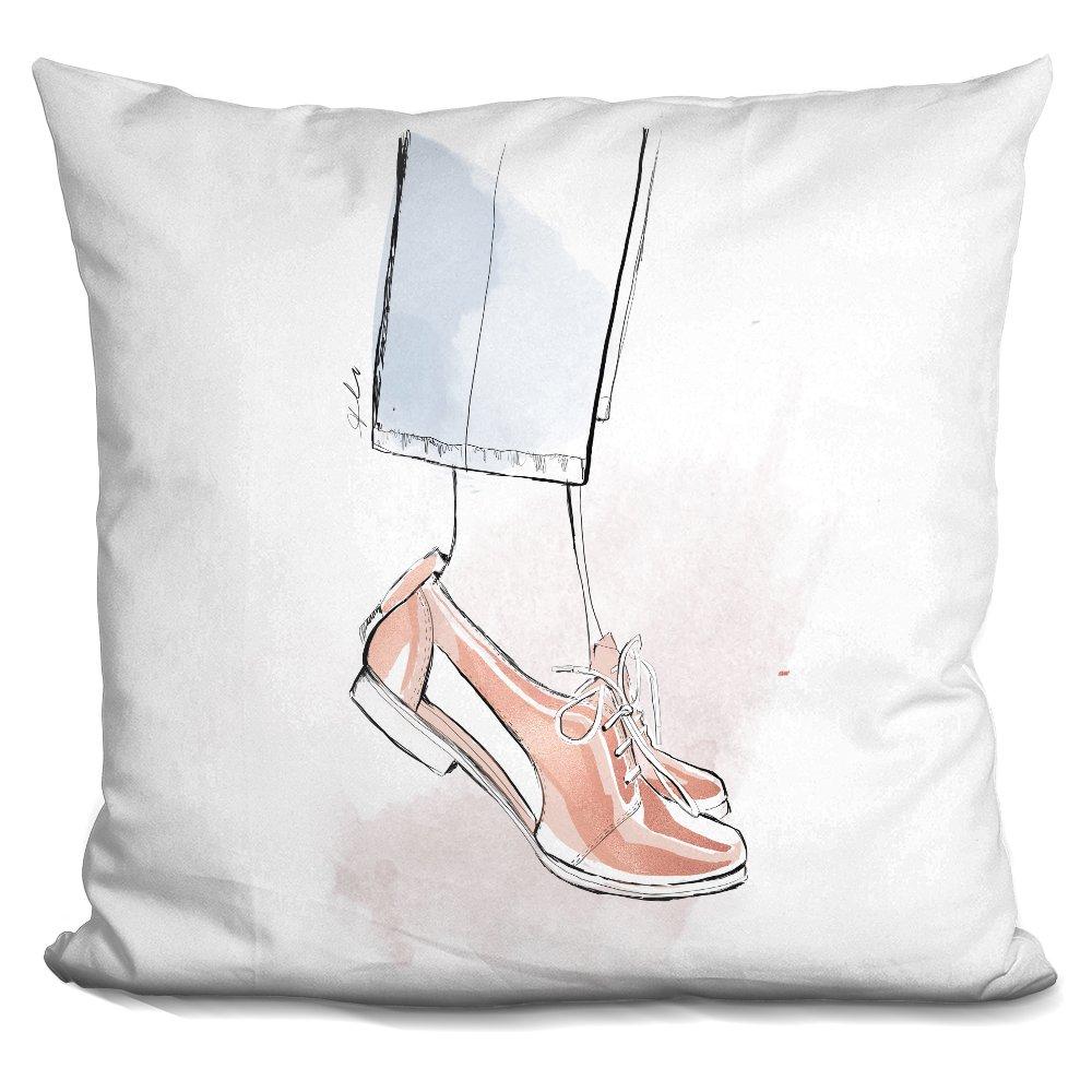LiLiPi Rose Gold Brogues Decorative Accent Throw Pillow