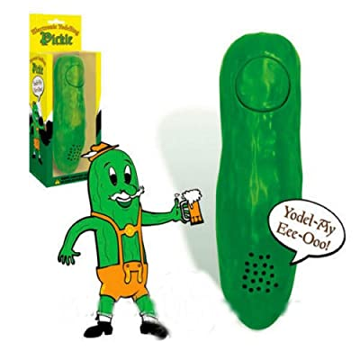 Unbranded Yodelling Pickle Gag Gift Novelty Item Prank Joke Funny Yodel White Elephant: Toys & Games