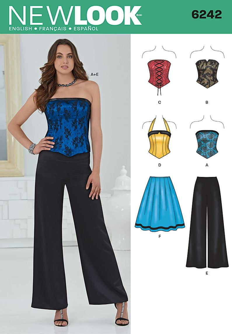 New Look Patron de couture 4/–6-8/–10/–FuturaLondon 6242 Smart /&d/écontract/é Tailles: