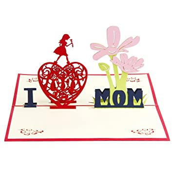 Jili Online Thanks Mom Mothers Day Mum Mommy Birthday Anniversary 3D Pop Up Card I Love