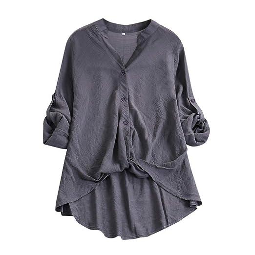 Caren 2019 Blusas De Manga Corta para Mujer Camisetas con Cuello ...