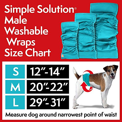 Picture of Simple Solution Washable Male Wrap Dog Diaper, Small, Teal