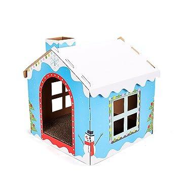 L&XY Cat Scratch Board Gato Casa Acanalada Papel Casa Reciclable Cartulina Proteger Su Muebles Rasguño Almohadilla
