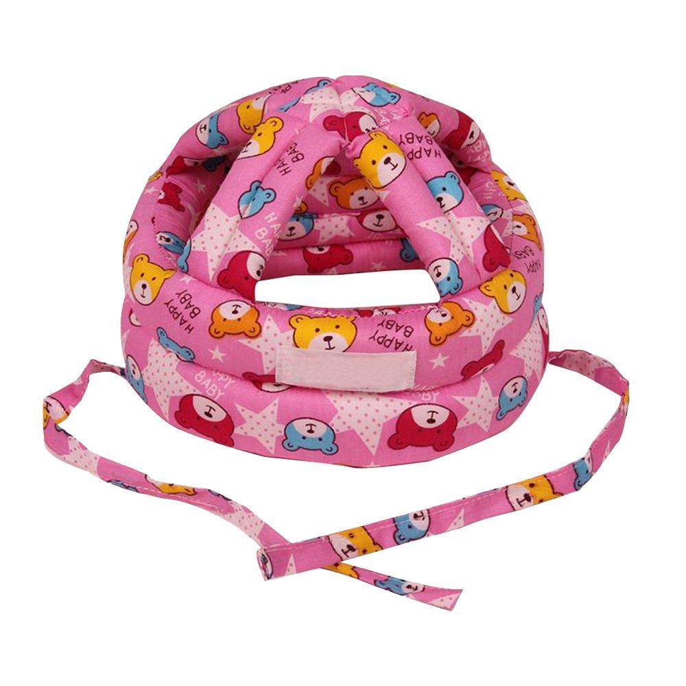 Eizur Unisex Bebè Cappello Protezione della Testa Casco Traspirante Bambini Sicurezza Cappello Resistenza goccia Berretto Copricapo protettivo Taglia S / L (Giallo / Blu / Rosso)