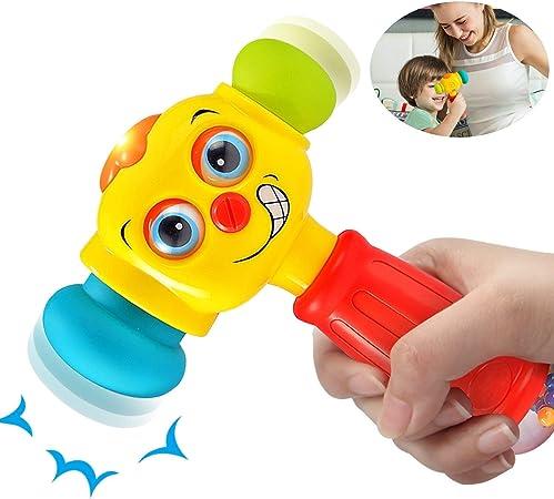 Amazon 赤ちゃんのおもちゃ おもしろい交換可能 ハンマー 子供のおもちゃ 6ヶ月以上 多機能 ライト音楽幼児 幼児 男の子 女の子 1 2 3歳 最高のギフト 赤ちゃん 幼児のおもちゃ おもちゃ