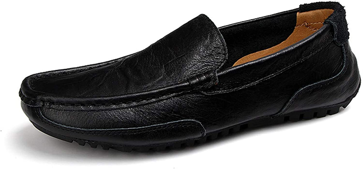 Breathable Light Men Moccasins Loafers Shoes Male Genuine Leather Spring Summer Driving Soft Flats Footwear Slip On Boat