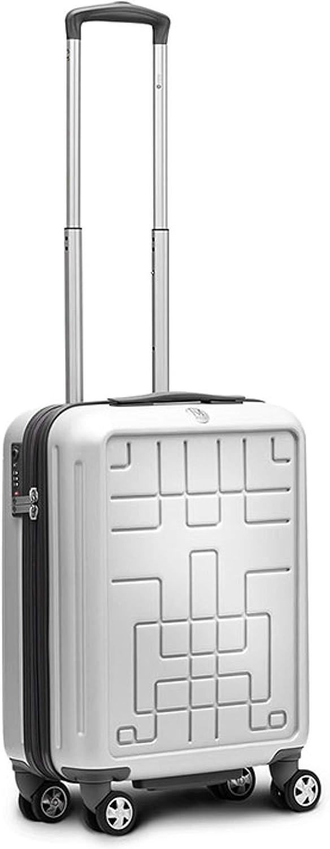 Ciak Roncato Highlight - Maleta con Ruedas Diseño – 54 x 39 x 20 cm – 42 L – 4 Ruedas Dobles, candado TSA. Disponible en 6 Colores Plateados.