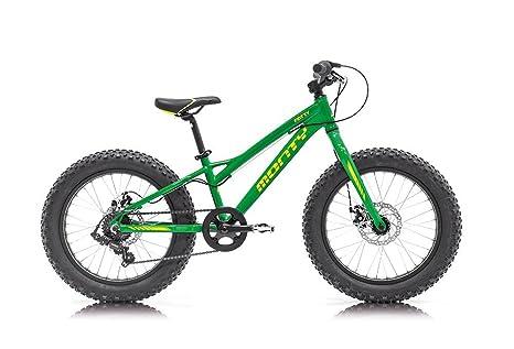 Monty Fatty Bicicleta, Unisex niños, Verde, Talla Única: Amazon.es ...