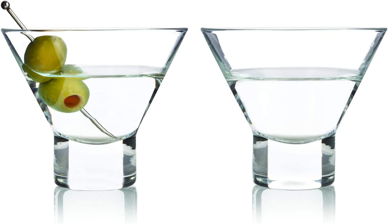 Amazon Com Viski 3718 Stemless Martini Glasses Raye Cocktail