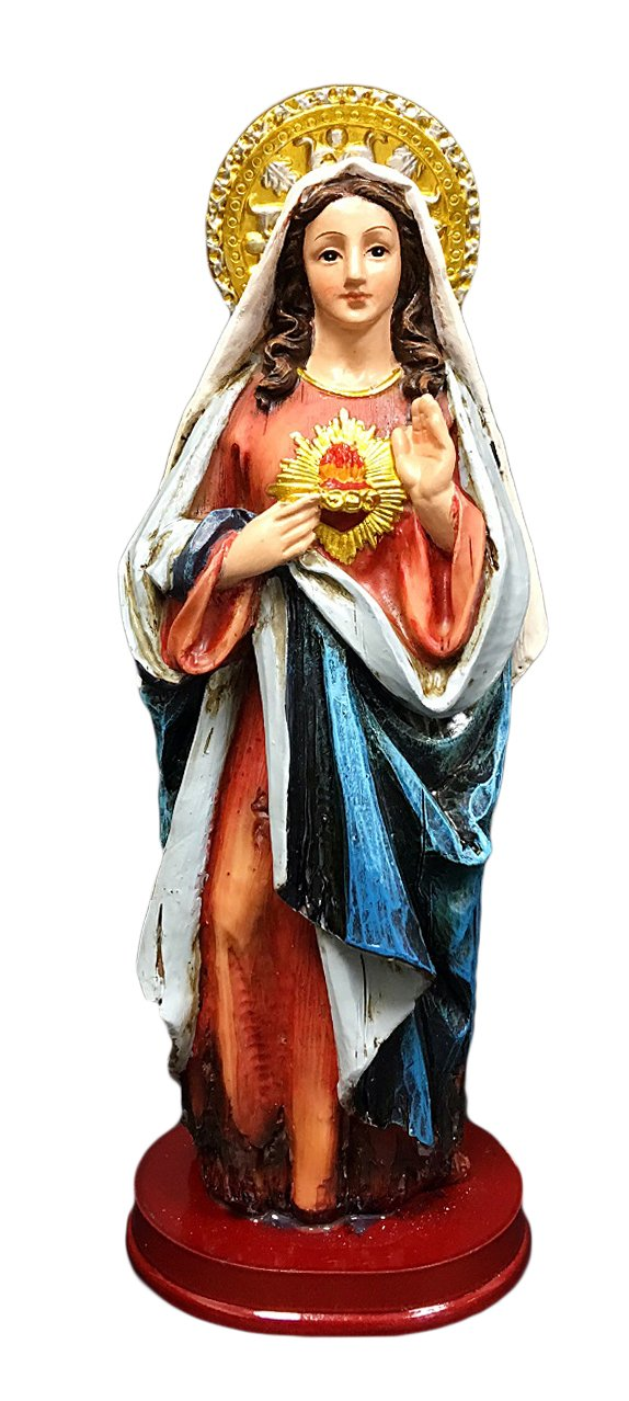 Hampstead Collection 8-Inch Immaculate Heart of Mary Statue Figurine