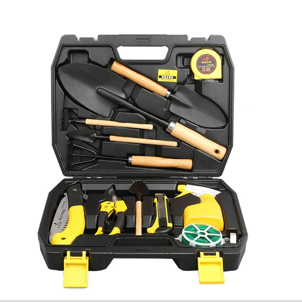 Zcx Garden Tool Set Garden Grafting Knife Gardening Tool Set Tool Shovel Watering Can Set 13 Sets (Size : 370X94X293mm)