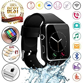 2018 Newest Bluetooth Smart Watch Touchscreen With Camera,unlocked Watch Phone With Sim Card Slot,smart Wrist Watch,smartwatch Phone For Android Samsung S9 S8 Ios Iphone 8 7s Men Women Kids (Black) 0
