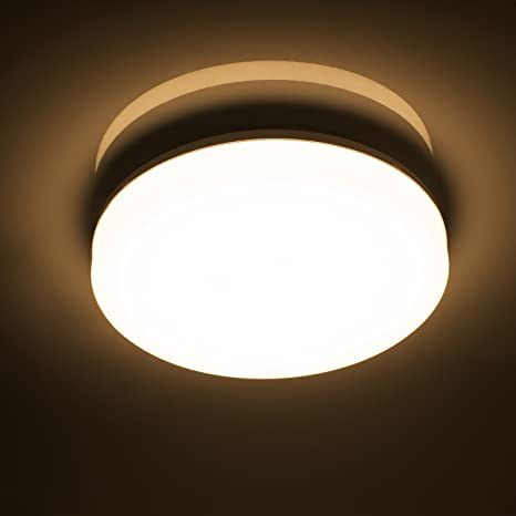 Öuesen Lamparas de Techo LED Modernas Delgado 18W Lampara Techo 1650LM Plafones led Ronda IP44 Blanco Cálido 3000K Luz de Techo para Baño Cocina ...