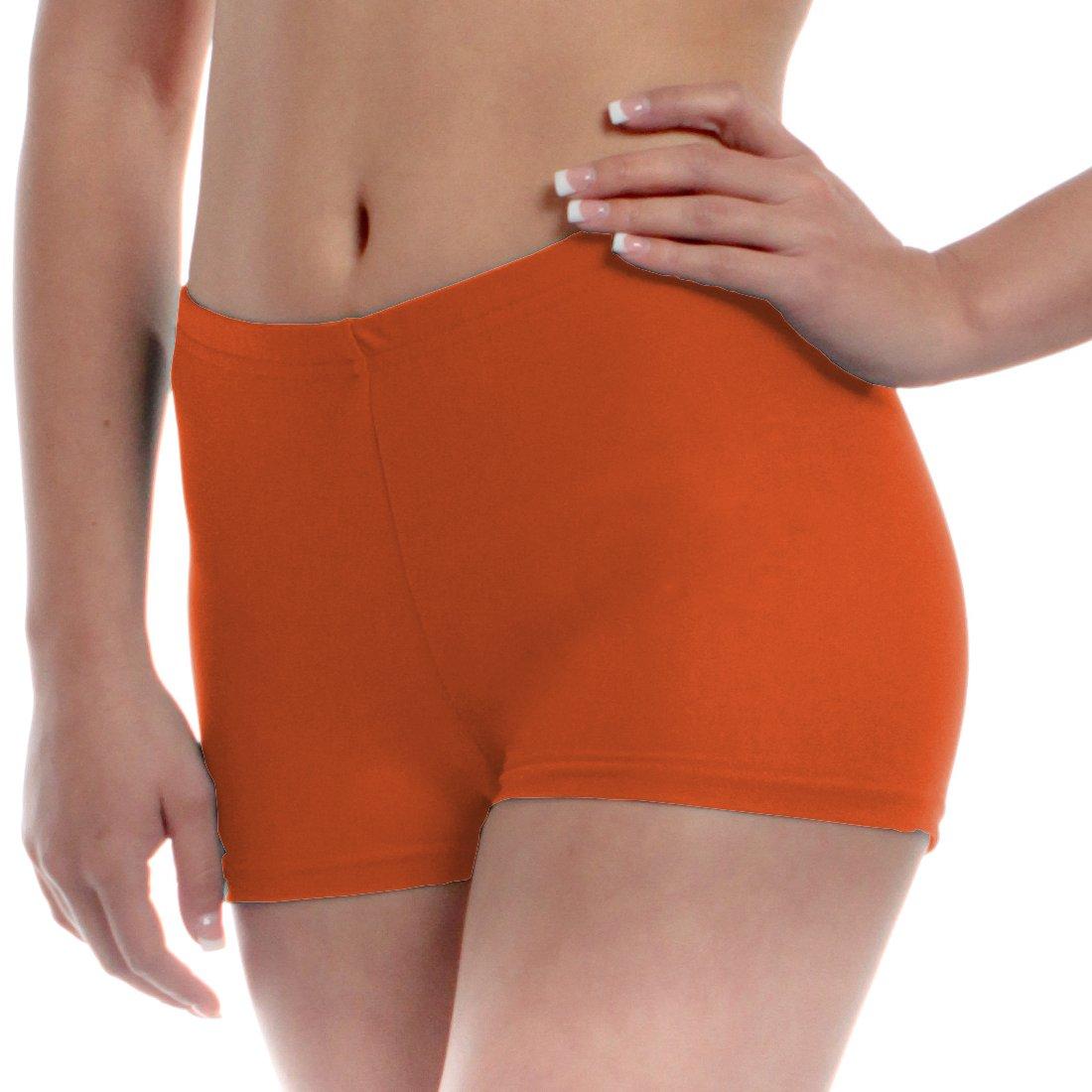 Mens Long Dance Shorts Medium Orange by B Dancewear Adult Sizes by Bailar Dancewear