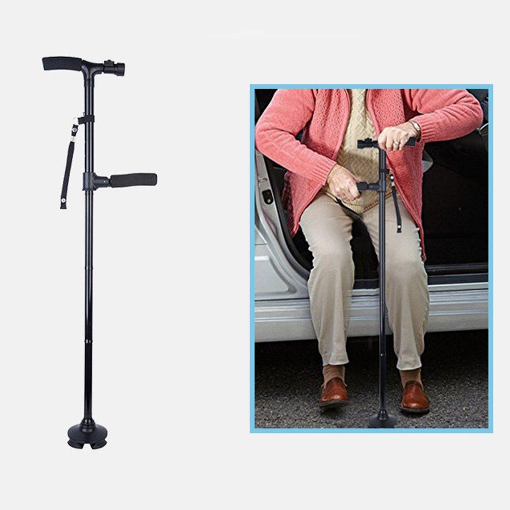 Travel Folding Walking Cane Andador plegable Stock Muletas doble ...