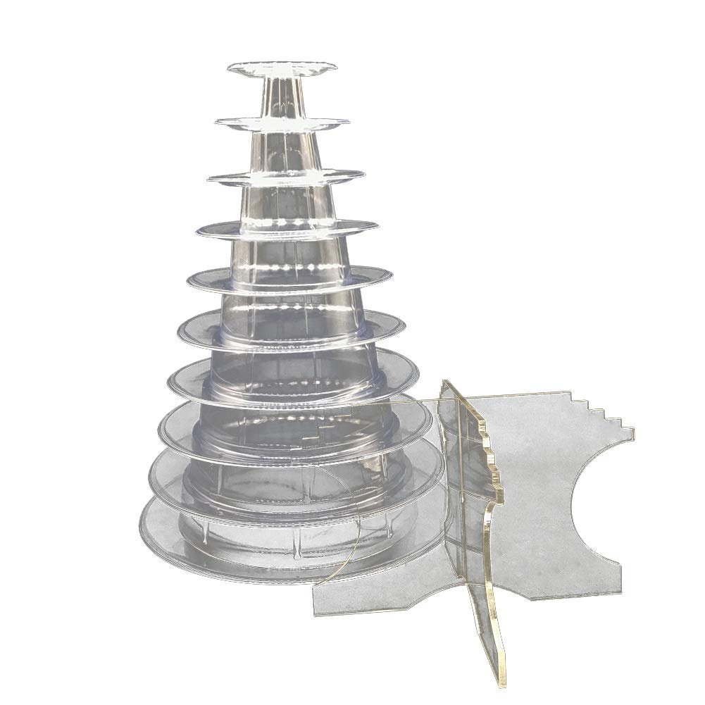 POEwjCCk 10 Tier Acrylic Macaron Tower Stand Reusable Birthday Party Bakery Shop Cake Easy Cleaning Stand