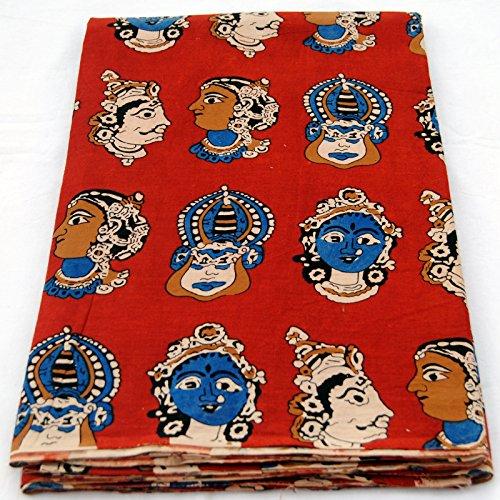Craft Jaipur HAND block kalamkari print cotton fabric 10 yard