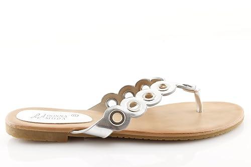 negozio del Regno Unito in arrivo moda più desiderabile Bassi Argento Infradito Donna Neri Oro Bianchi Sandali ...