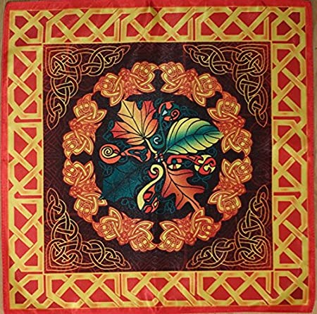 Wonderworld Manteles Serie antiguos celtas temporadas. Otoño - Cosecha 16х16 Cloth Wicca pagano bruja chal: Amazon.es: Hogar
