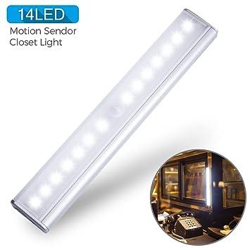 Furnizone Motion Closet Light Wireless Night Light Wall Light Stick On  Cabinet Light Strip Portable LED