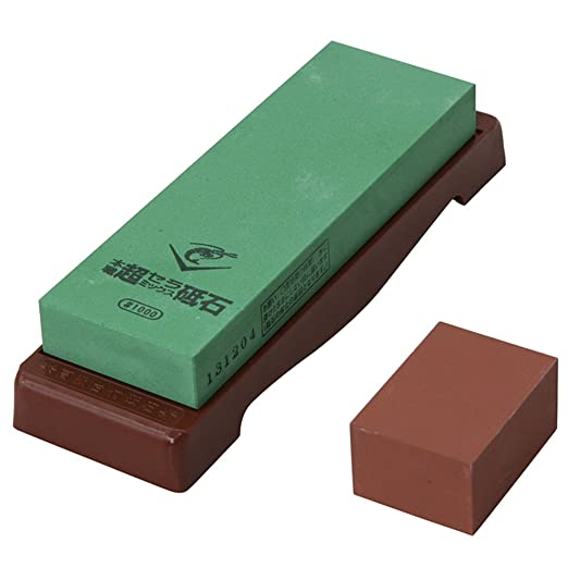 1,000 Grit Super Ceramic Water Stone with a Base (Japan Import)