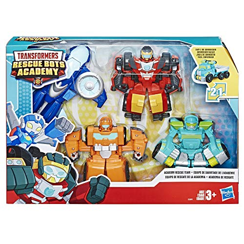 """61wxdtFVEhL - Playskool Heroes Transformers Rescue Bots Academy Rescue Team Pack, 4 Collectible 4.5"""" Converting Action Figures, Toys for Kids Ages 3 & Up, Brown (E5099)"""