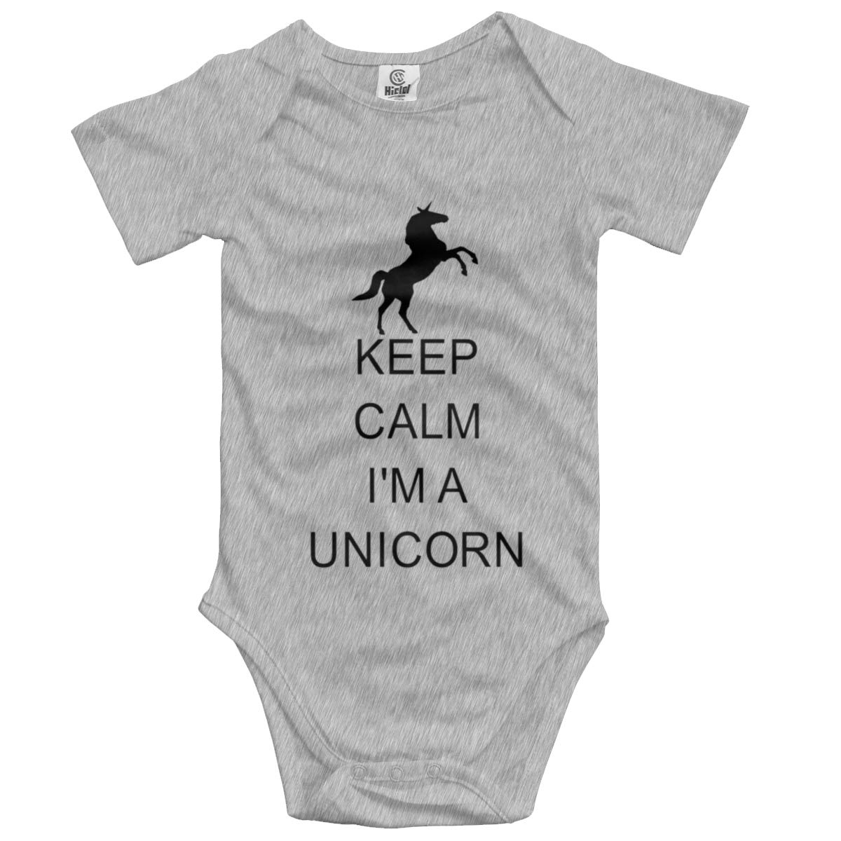 Keep Calm Unicorn Baby Boys Girls Jumpsuit Short-Sleeve Romper Bodysuits