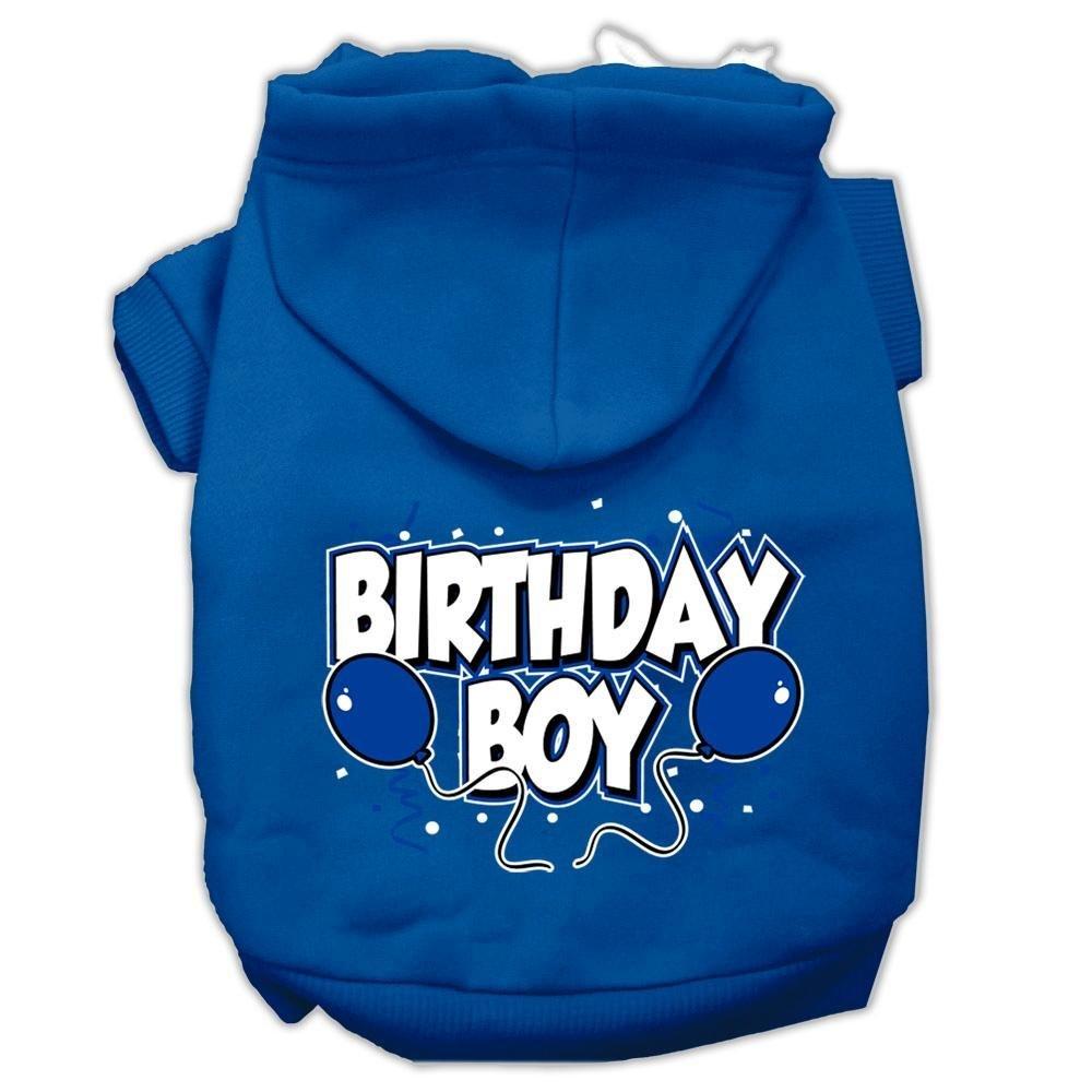 bluee Medium bluee Medium Mirage Pet Products 12  Birthday Boy Screen Print Pet Hoodie, Medium, bluee