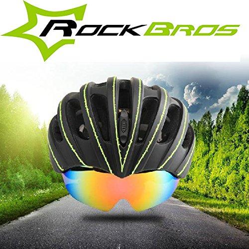 Bazaar Rockbros lunettes utiles casques vélo VTT casque de vélo avec l'objectif de lunettes de soleil