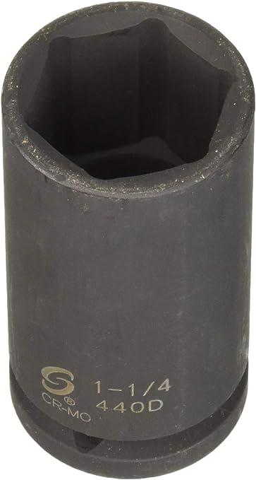 Sunex 440D 3//4 Drive Deep 6 Point Impact Socket 1-1//4