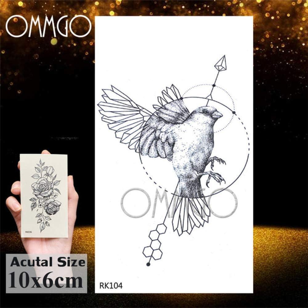 5Pcs- Bald Eagle Black Birds Tattoos Sticker Impermeable Tato ...