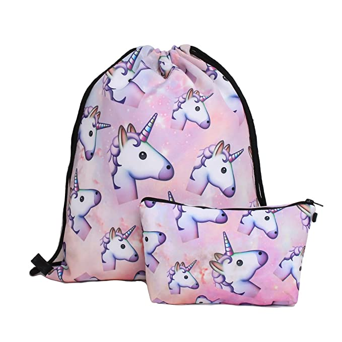 Amazon.com: Deanfun impresión cordón mochila bolsas de ...