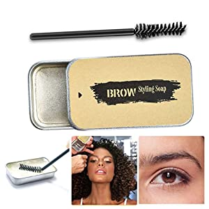 Eyebrow Soap Kit,brow pomade,eyebrow gel clear,Brows Styling Soap,Long Lasting Waterproof Smudge Proof Eyebrow Styling Pomade for Natural Brows (01)