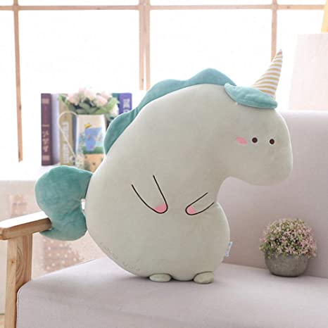 Kids Unicorn Pillow Plush Toy Stuffed Cushion Soft Furry Smiling Doll Sofa Couch