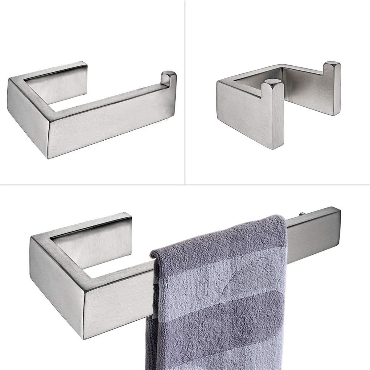 Flybath Handtuchring SUS 304 Edelstahl Geb/ürstetes Silber Handtuchhalter Wandmontage