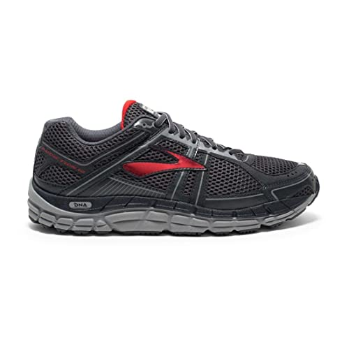 Brooks Men's Addiction 12 Anthracite/High Risk Red/Silver Sneaker 9 B -  Narrow