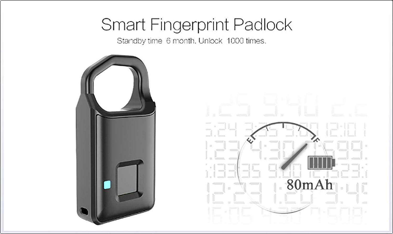 Smart Fingerprint Door Lock Safe USB Charging Waterproof Anti Theft Lock Home Security