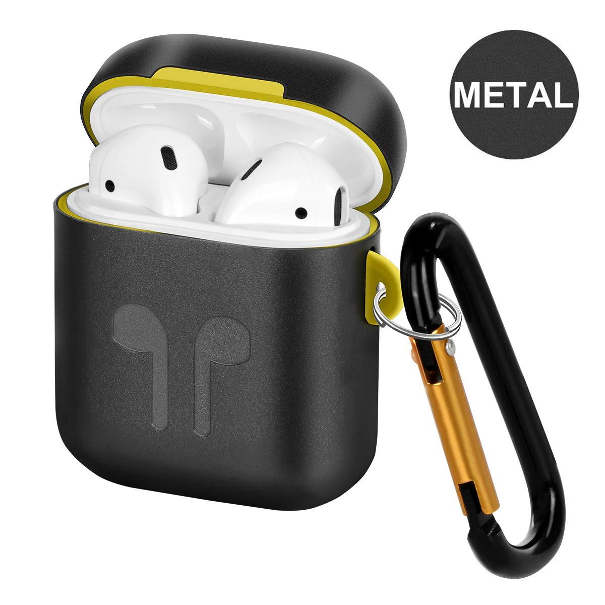 Carcasa de Metal Compatible con Airpods, Funda portátil de ...