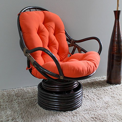 International Caravan 3310-TW-SP-IC Furniture Piece Swivel Rocker with Twill Cushion by International Caravan